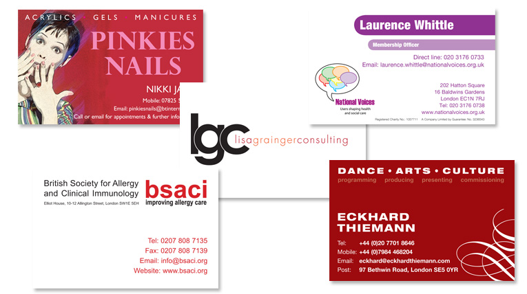 Inq design limited further examples business cards reheart Image collections